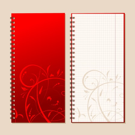 Notebook cover and page for your design Stock Vector - 7770147