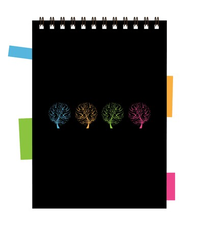 notebook cover: Notebook cover design, art tree