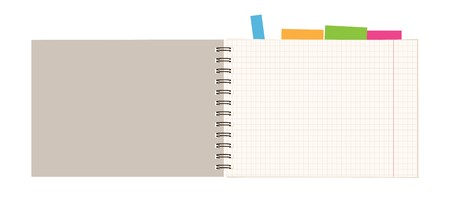 Notebook open page for your design Stock Vector - 7770115