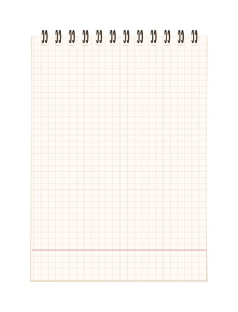 Notebook open page for your design Stock Vector - 7770121