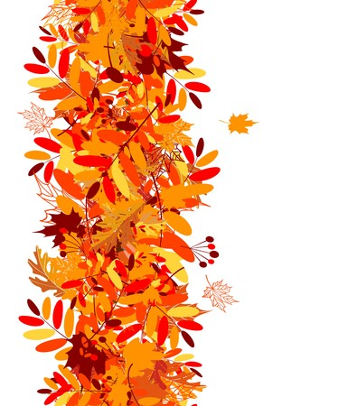 autumn leaf frame: Autumn leaves seamless background for your design
