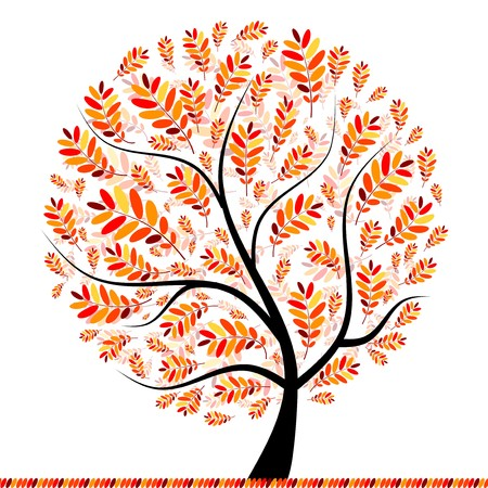 Beautiful autumn tree for your design Stock Vector - 7770165