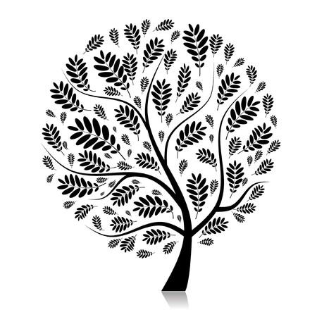rowan: Beautiful autumn tree for your design