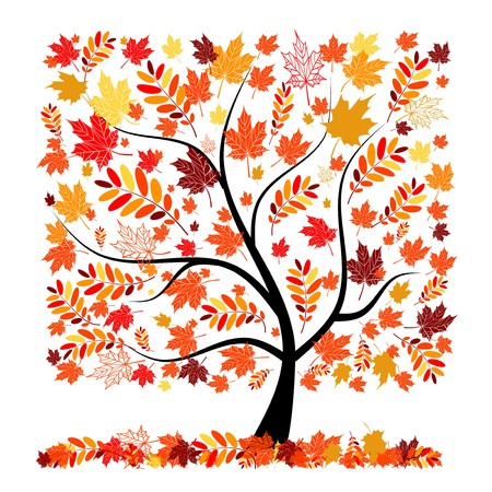 Beautiful autumn tree for your design Stock Vector - 7770181