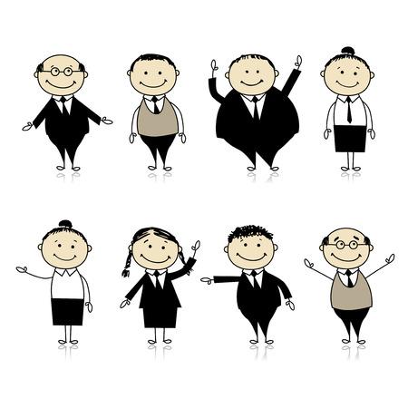 uniformes de oficina: Conjunto de personas de negocios para el dise�o