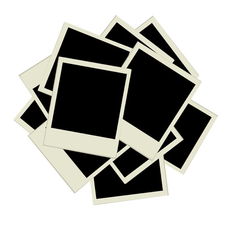 Pile of photos, insert your pictures into frames Vector