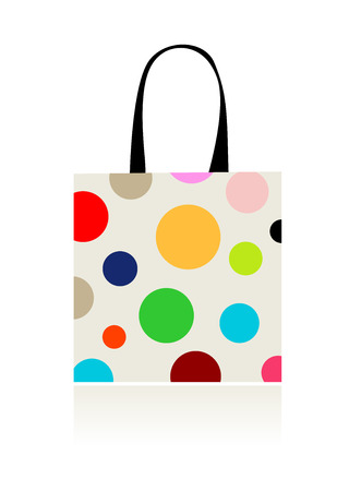 red retail: Fashion peas, shopping bag isolated for your design  Illustration