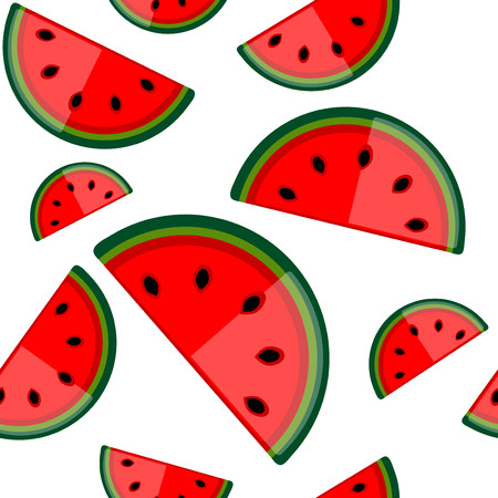 Watermelon seamless background for your design Vector