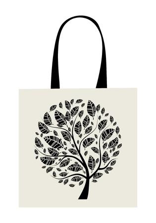 Shopping bag design, art tree  Vector