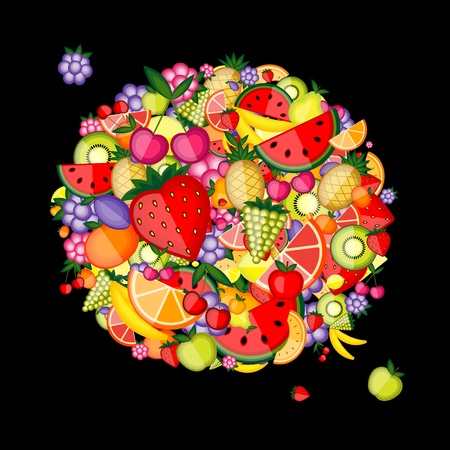 Energy fruit background for your design Stock Vector - 8362544