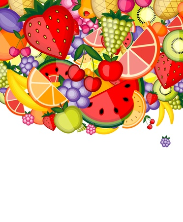Energy fruit background for your design Stock Vector - 8362548