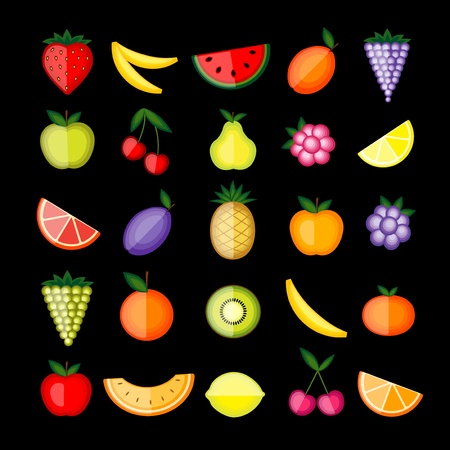 Energy fruits.  collection for your design Vector