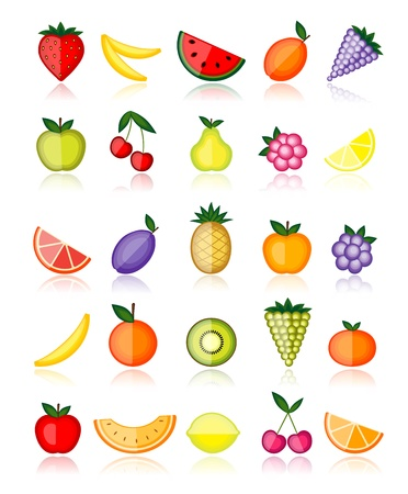 Energy fruits. collection for your design Stock Vector - 8362546