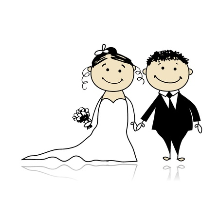 groom: Wedding ceremony - bride and groom together for your design