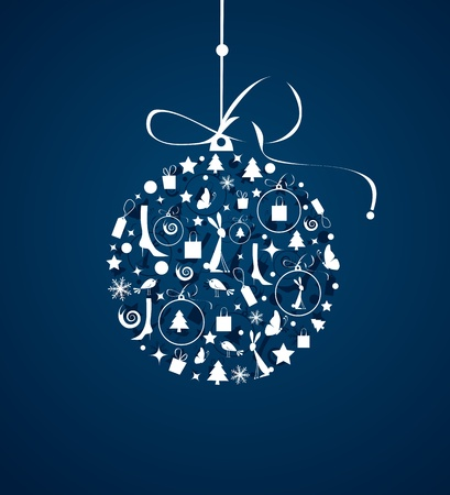 Christmas ball for your design Vector