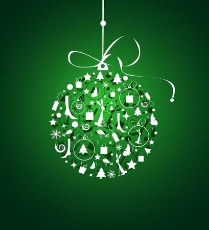 Christmas ball for your design Vector
