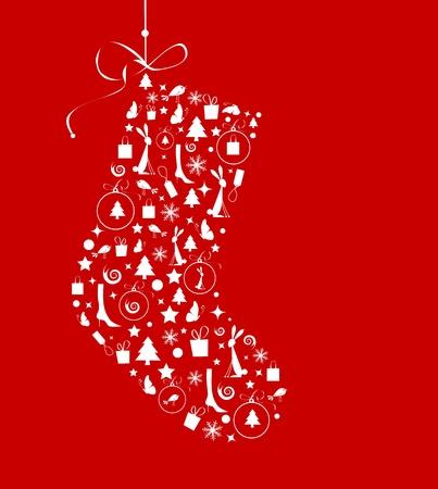 christmas stocking: Christmas stocking for your design