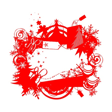 Christmas frame with place for your text Stock Vector - 8362531
