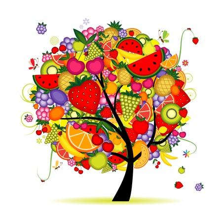 platano maduro: �rbol frutal de energ�a para el dise�o Vectores