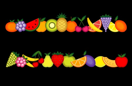 Energy fruits. collection for your design Stock Vector - 8362474