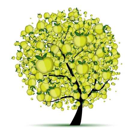 arbol de manzanas: �rbol de manzanas de energ�a para el dise�o  Vectores