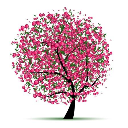 orange tree: Energy cherry tree for your design