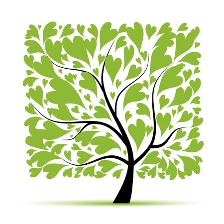 trunk: Art tree beautiful for your design  Illustration