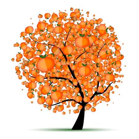 citrus tree: �rbol c�trico de energ�a para el dise�o  Vectores