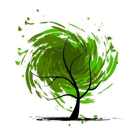 vent: Arbre de grunge pour votre design.