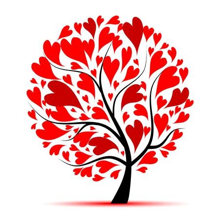 albero della vita: Albero di San Valentino, amore, foglia da cuori