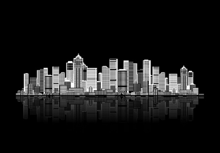 corporation: Cityscape background for your design, urban art