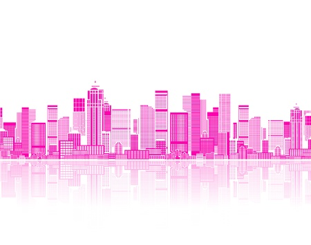 high rise buildings: Cityscape seamless background for your design, urban art