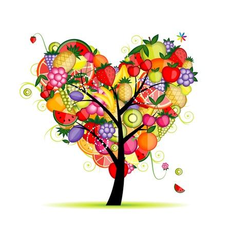 pineapples: Forma de coraz�n para su dise�o de fruticultura de energ�a