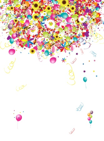 Happy holiday, funny background with balloons for your design Vector
