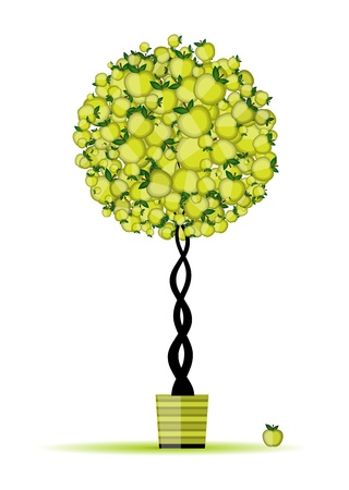 Energy apple tree in pot for your design