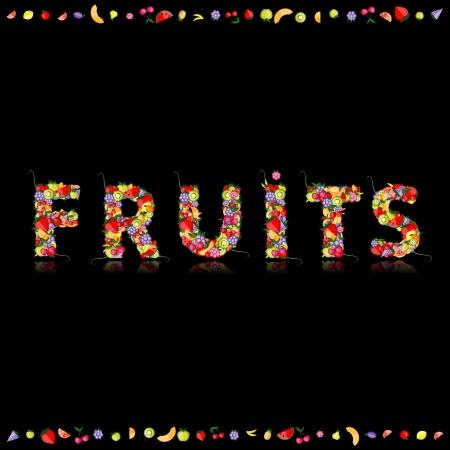 kiwi fruit: Fruto de su dise�o. Ver otros en mi Galer�a Vectores