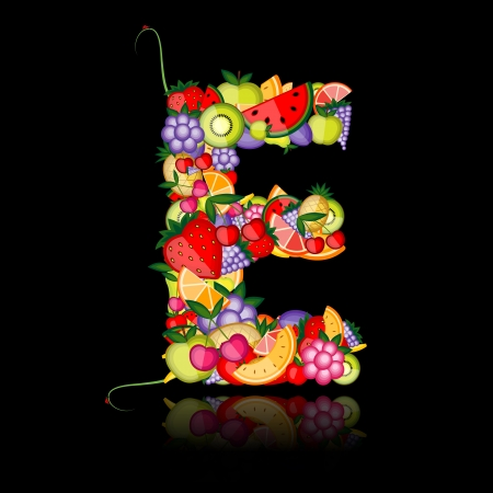 melon: Fruit letter for your design. See others in my gallery