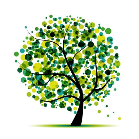 Abstract tree green for your design Stock Vector - 9128610