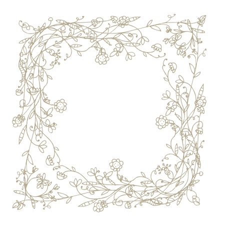 Sketch of floral frame for your design Stock Vector - 9128578
