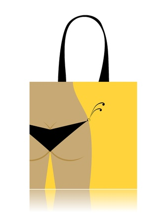 Shopping bag design - bikini bottom Vector