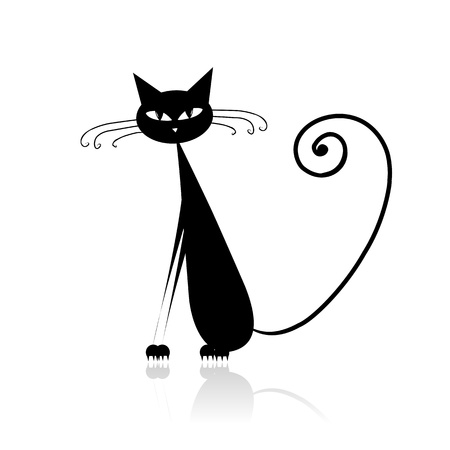 Funny black cat for your design Stock Vector - 9128508
