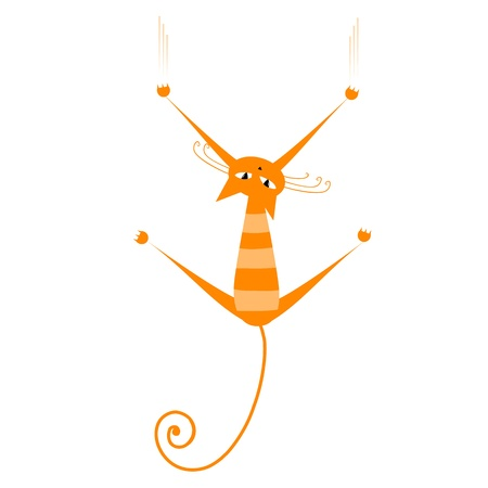 Funny orange striped cat for your design  Stock Vector - 9128464