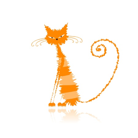 Funny orange wet cat for your design  Stock Vector - 9128528