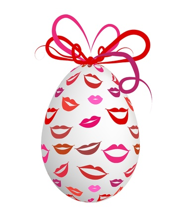 Kissed easter egg for your design Vector