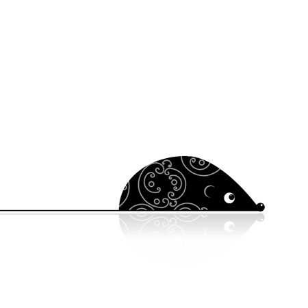 Computer mouse black for your design Stock Vector - 9128567