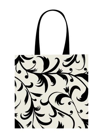 Shopping bag design, floral ornament  Stock Vector - 9348138