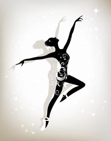flexible girl: Ballet dancer for your design