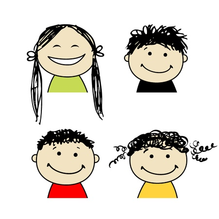 Smiling people icons for your design Stock Vector - 9348146