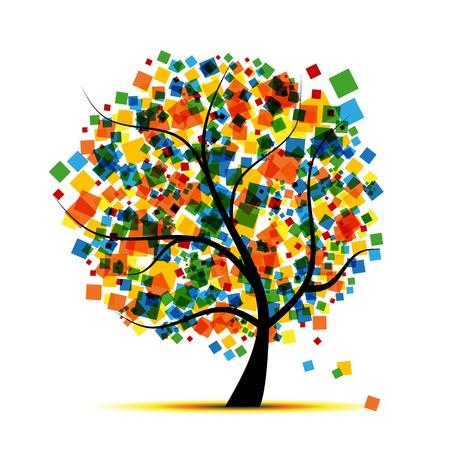 Árbol abstracta para su diseño  Ilustración de vector
