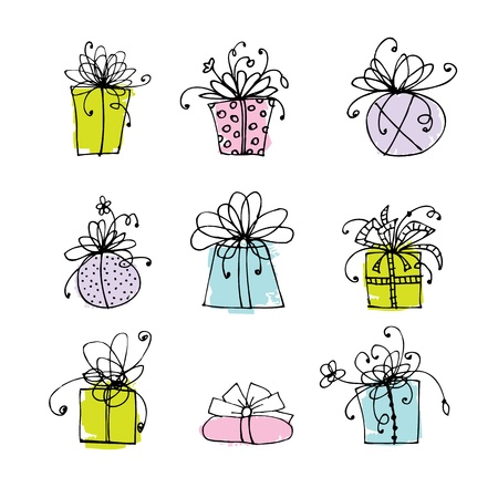 Gift box icons for your design Stock Vector - 9478431